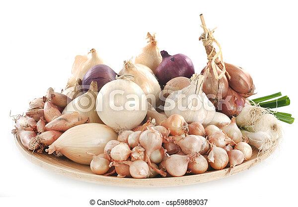onion, shallots and garlic - csp59889037
