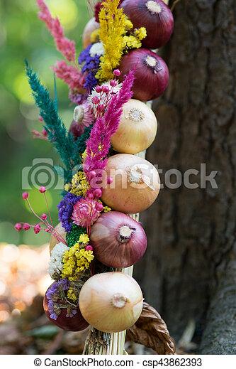 Onions decoration - csp43862393
