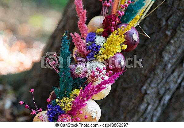 Onions decoration - csp43862397
