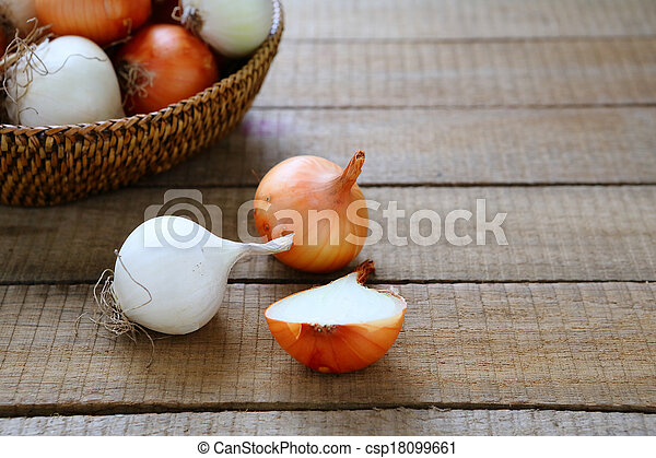 onions in a basket - csp18099661
