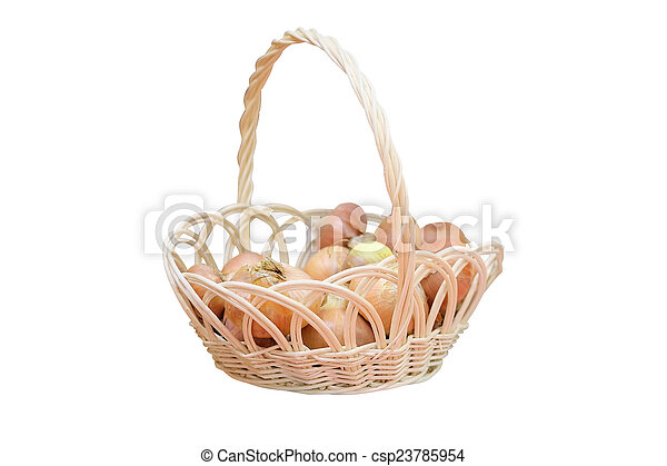 onions in a basket - csp23785954