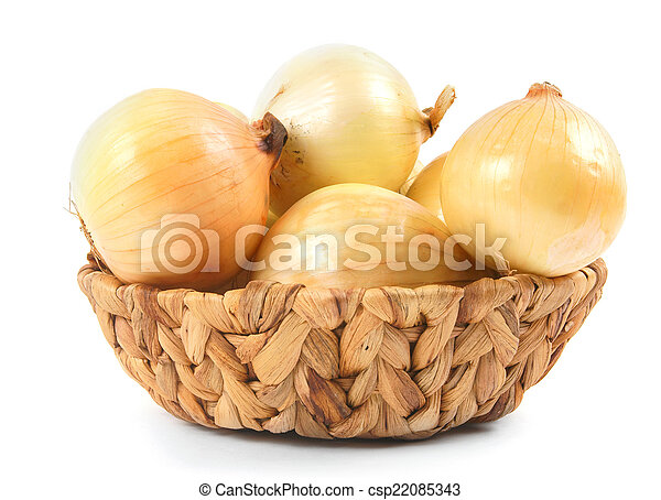 Onions in a basket - csp22085343