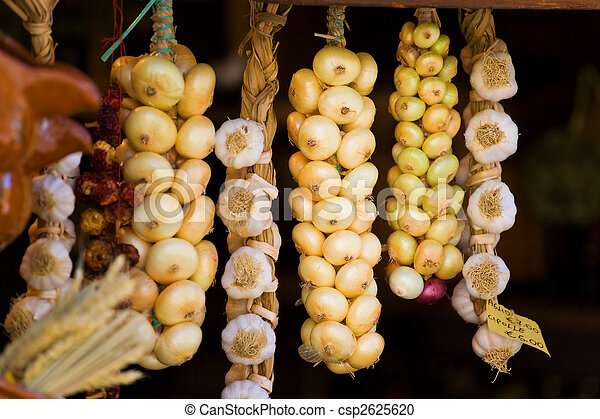 Onions in a shop - csp2625620
