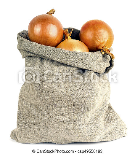 onions in bag - csp49550193