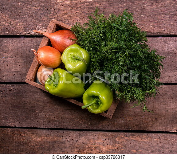 onions on table - csp33726317