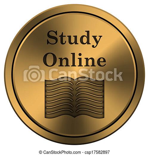 online, ícone, estudo - csp17582897