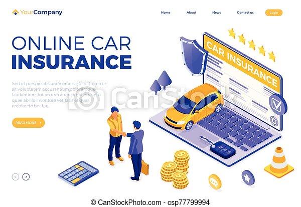 online , άμαξα αυτοκίνητο ασφάλεια , γενική ιδέα , isometric  - csp77799994