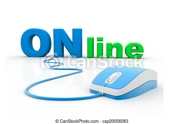 10c7207f1c7 online and computer mouse - csp20056083