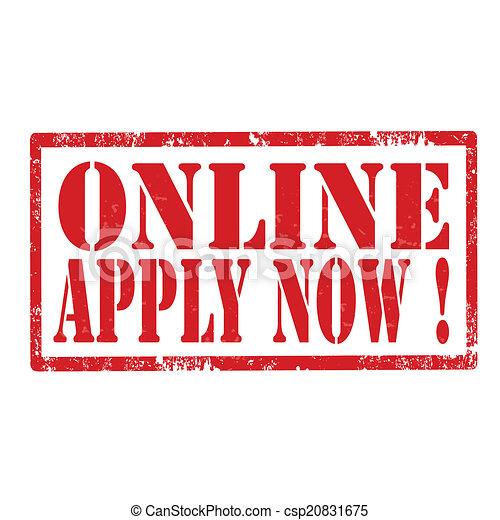 Online Apply Now-stamp - csp20831675
