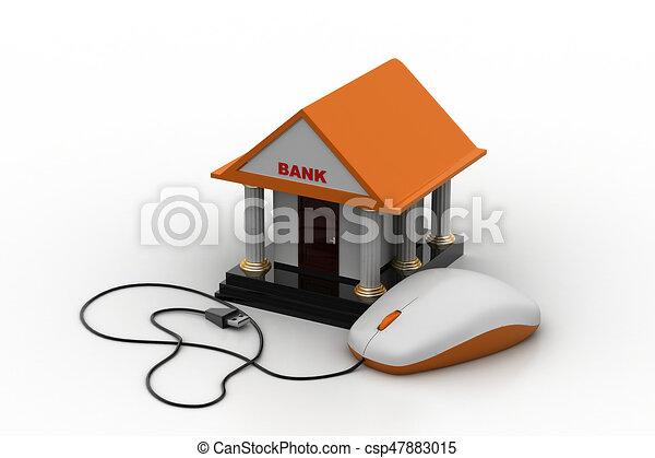 Online banking concept - csp47883015