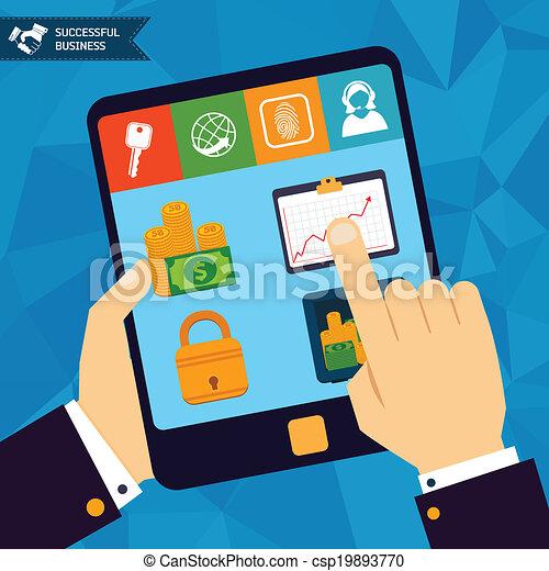 Online banking concept - csp19893770