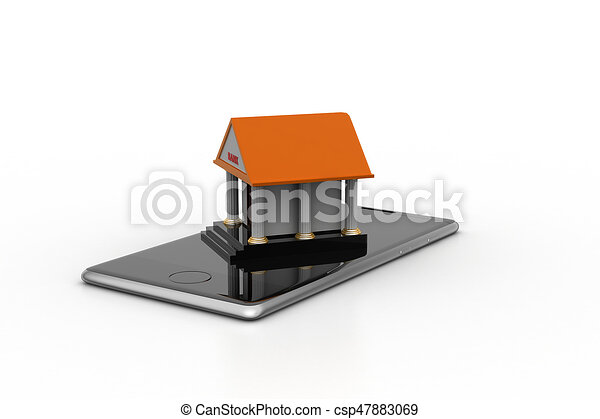 Online banking concept - csp47883069