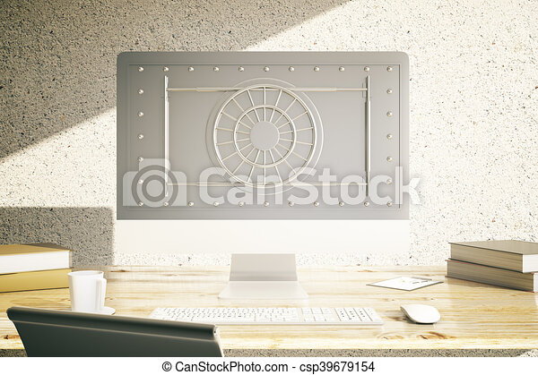 Online banking concept - csp39679154