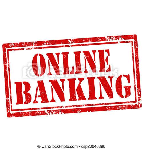 Online Banking-stamp - csp20040398