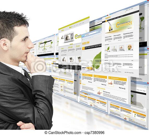 Online business - csp7380996