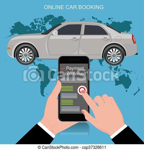 online car booking concept vector illustration vector clip art search illustration drawings. Black Bedroom Furniture Sets. Home Design Ideas