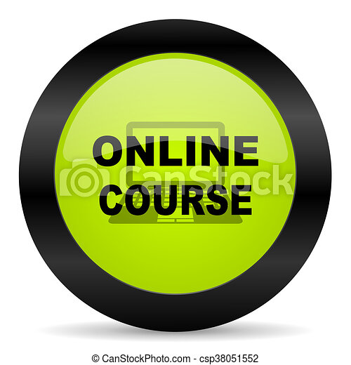online course icon - csp38051552