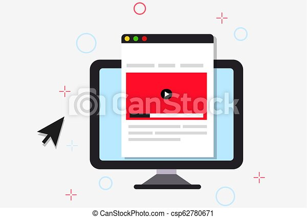 Online course illustration - csp62780671