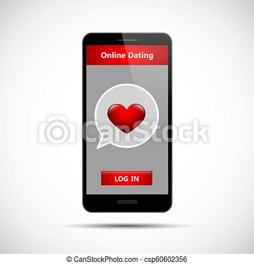 online dating app concept black smartphone - csp60602356