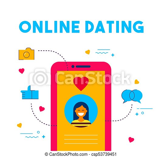 Dating website icons with words