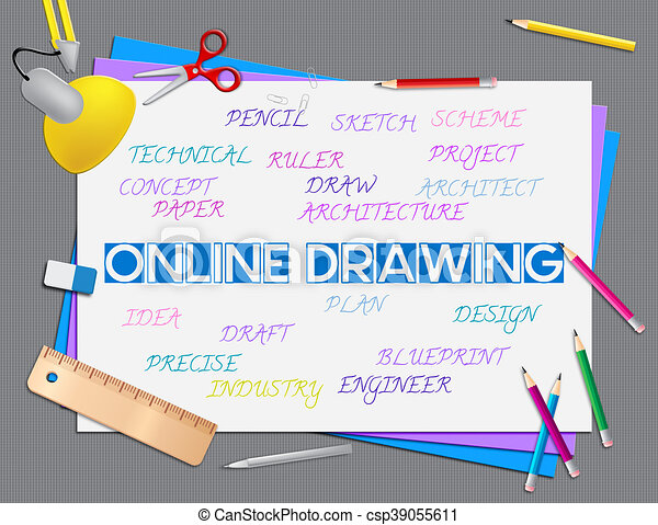 Online drawing shows web site and creative. Online drawing ...