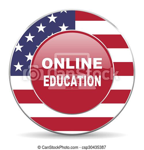 online education icon - csp30435387
