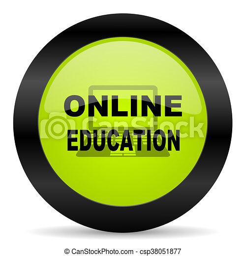 online education icon - csp38051877