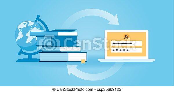 Online education - csp35689123