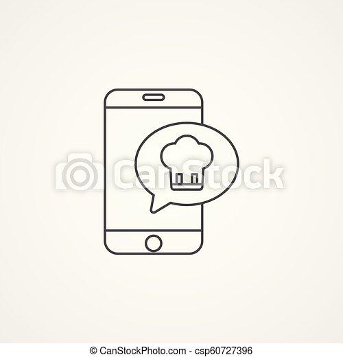 online food delivery vector icon sign symbol