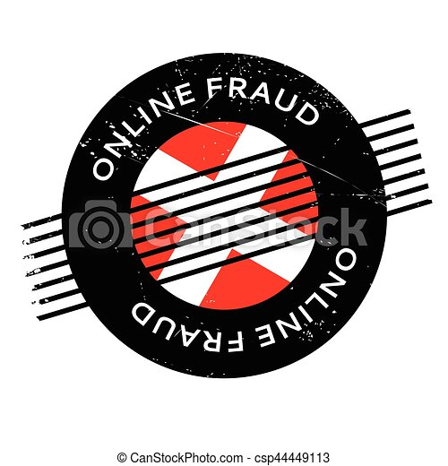 Online Fraud Rubber Stamp Grunge Design With Dust Scratches Effects Can Be Easily Removed For A Clean Crisp Look Color Is Changed