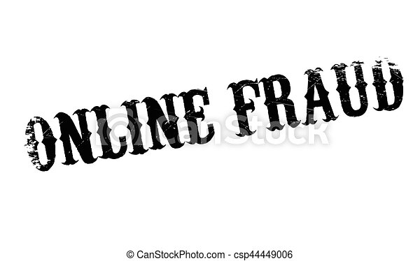 online fraud rubber stamp grunge design with dust scratches