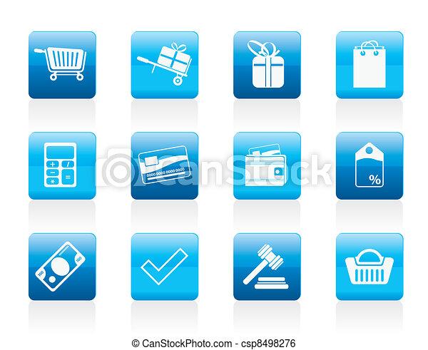 online, ikonok, bolt - csp8498276