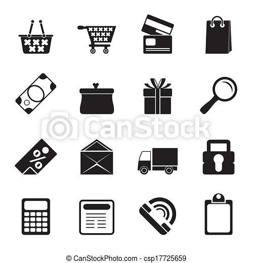 online, ikonok, bolt - csp17725659