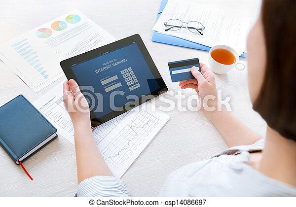 Online internet banking - csp14086697