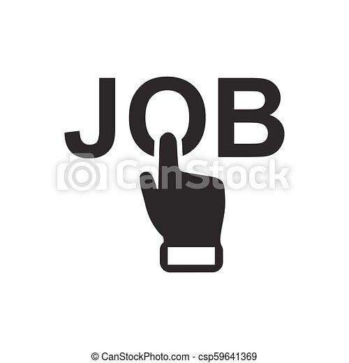 Online Job Apply Icon - csp59641369