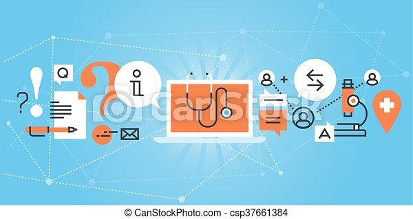 Online medical diagnosis - csp37661384
