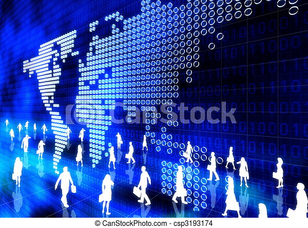 online, negócio global - csp3193174