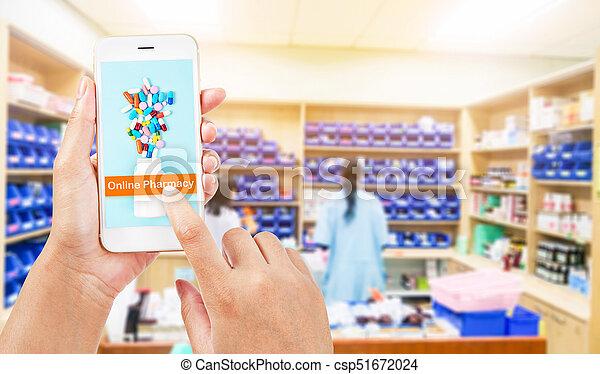 Online pharmacy concept. - csp51672024