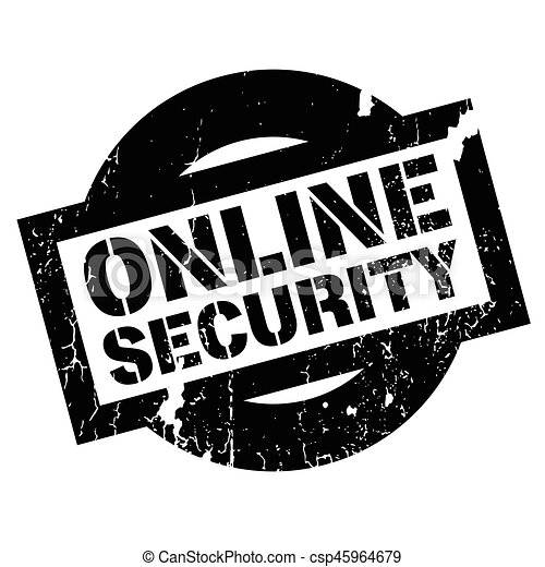 online security rubber stamp grunge design with dust scratches