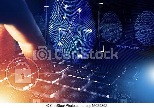 Online Security Screening - csp45089392