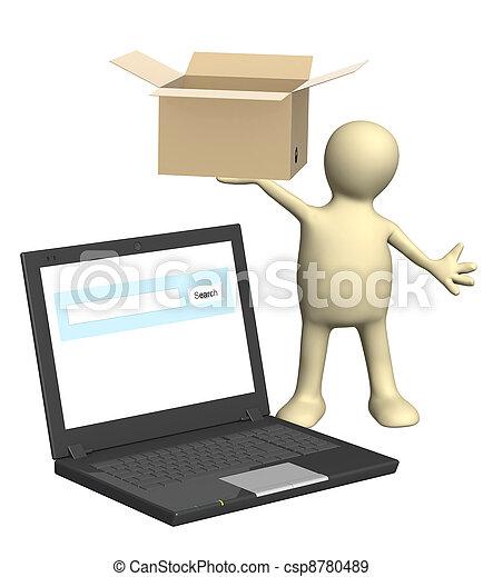 Online shipping - csp8780489