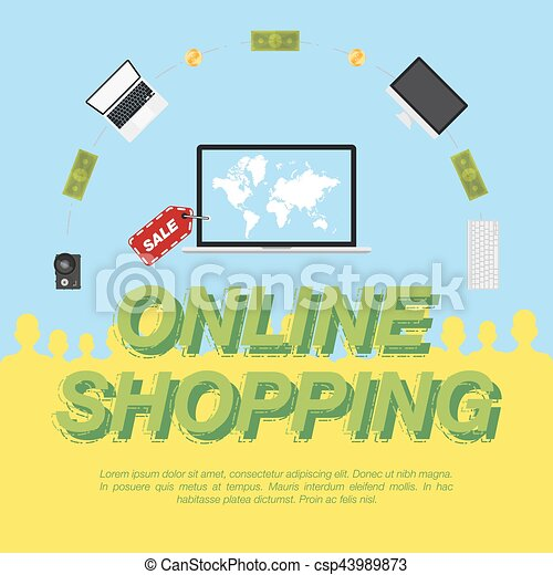 Online shop concept on the sale of digital technology world map on concept on the sale of digital technology csp43989873 gumiabroncs Gallery