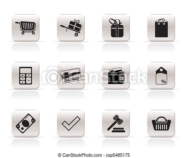 Online shop icons  - csp5485175