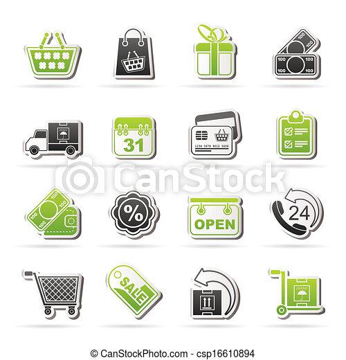 Online shop icons - csp16610894