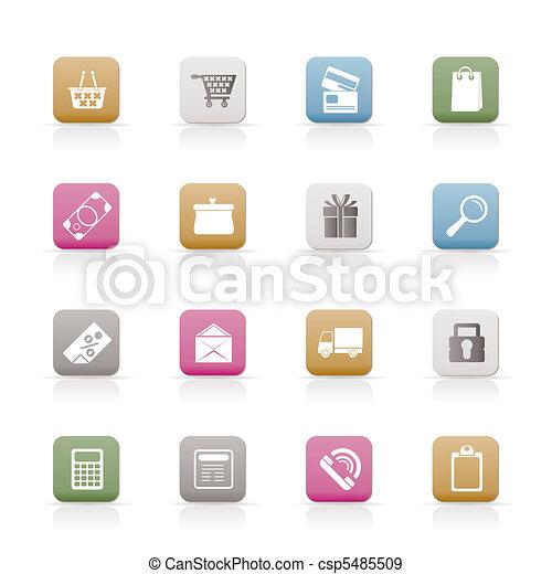 Online shop icons - csp5485509
