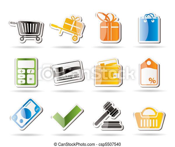 Online shop icons - csp5507540