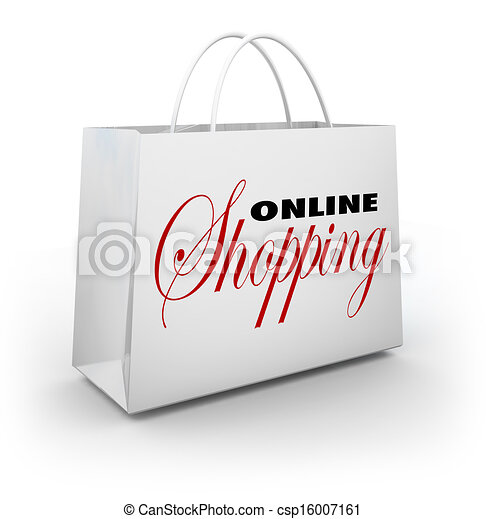 Online Shopping Bag e-Commerce Web Store - csp16007161
