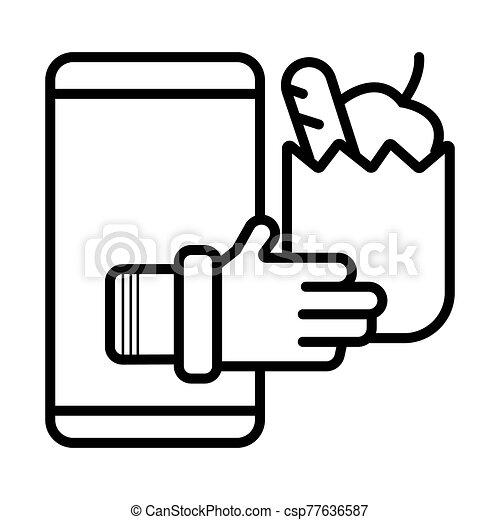 Online Shopping Icon - csp77636587