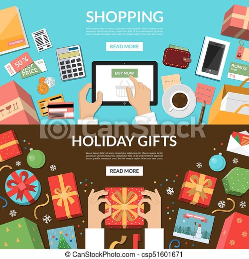 Holiday Cards Online >> Online Shopping Preparing For Holidays Wrapping Of Christmas Gifts And Greeting Cards