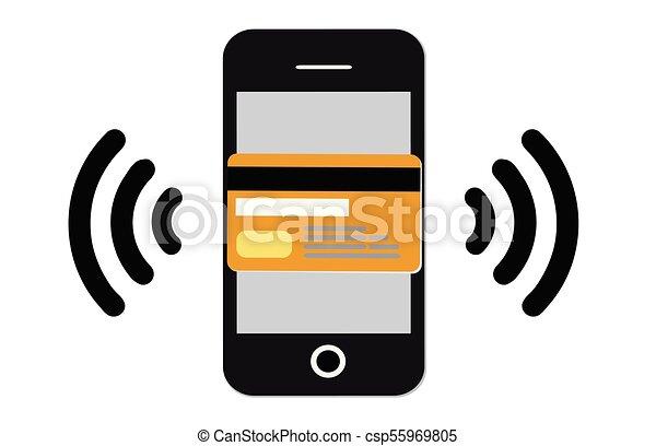 a584137db85 Online shopping vector. Internet shopping.wifi mobile pay.virtual ...